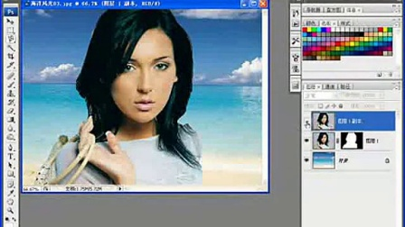ps教程视频photoshop换背景ps抠图头发ps换脸ps实例4