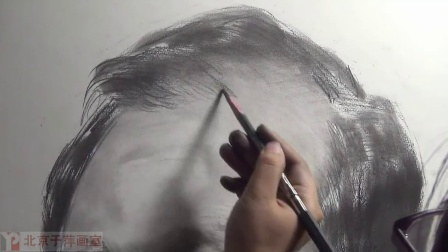 2014-5北京于萍画室 于萍素描头像教学视频 四分之三角度男中年