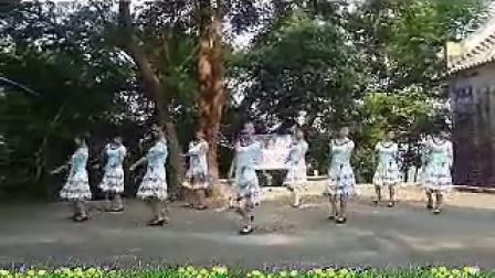 大湾群联广场舞 原创九月九的酒 (正背面演示)