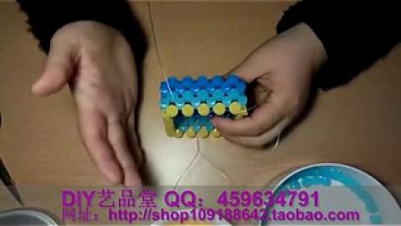 diy串珠教程|手工串珠教程|水晶串珠|手工串珠视频|海绵宝宝笔筒