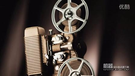 高清视频素材 - 精密的古董老式胶片电影放映机视频