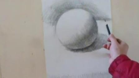 素描教程 素描几何体球体