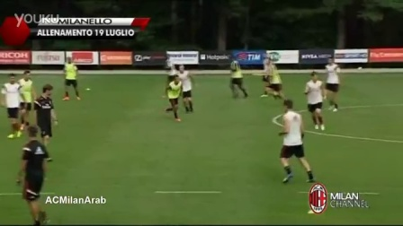 Pippo Inzaghi's two goals in today's training at Milanello