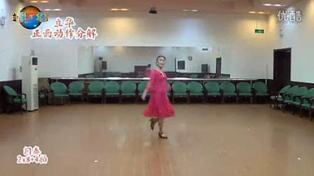 临盘立华 广场舞 天山上的雪莲花 新疆舞    正背面 及分解