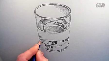 素描示范 水杯画法 素描入门教程学习视频图片
