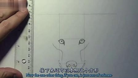 手绘铅笔漫画教程-狼的画法