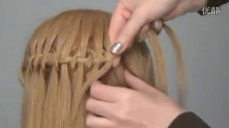 瀑布编发教程 超显气质的发型