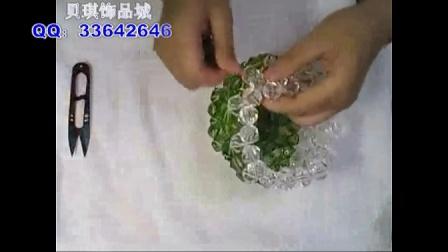 串珠花瓶教程,diy串珠教程,亚克力串珠纸巾盒教程