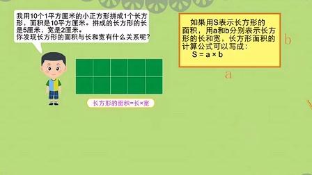 萌点学院小学数学微课-长方形正方形面积计算优秀企业viv学院案例分析图片