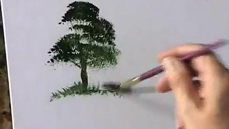 ytb油画教程-树 terry harrison