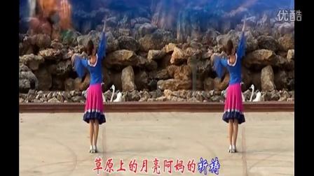 纯艺舞吧广场舞教学大全  草原的月亮[高清版]