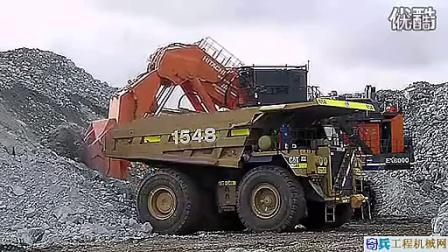 超大型正铲日立挖掘机 装车太过瘾了