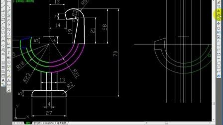 用cad画立体机械绘图