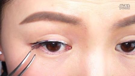 如何粘偏自然款的一整条式假睫毛以及推荐好用的假睫毛胶水