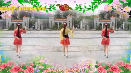 小苹果 可爱玫瑰花广场舞自己跳的小苹果,简单合适大众跳的小苹果 附