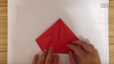 金元宝折法,这个版本用黄纸折的时候不容易烂掉祭祀