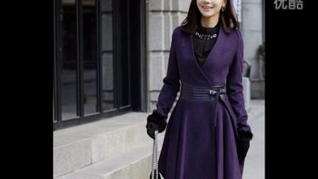 新品韓版高檔女裝修身羊絨呢子大衣大碼狐貍毛毛領秋冬款毛呢外套