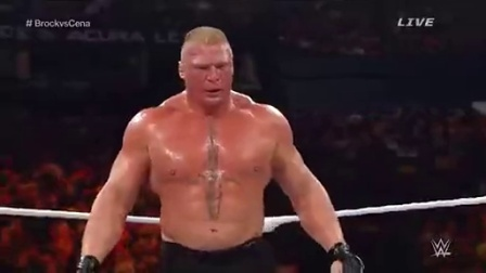 WWE 冠军之夜2014 Brock Lesnar vs. John Cena 世界重量级冠军赛