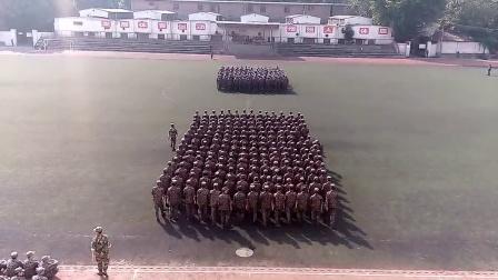 西安航空學院2014年軍訓過程