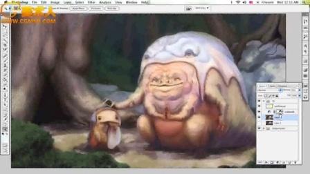 原画插画教程 萌丑萌丑的小怪物绘制