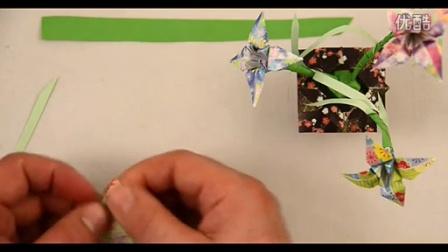 最新diy折纸教程-百合花折法 折纸视频大全.flv