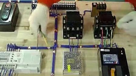 器控制的电动机多地控制自动往返的编程与接线视频