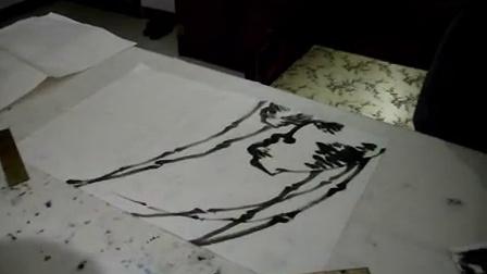竹子画法,石头画法视频---国画教学系列视频---魏来五道演示