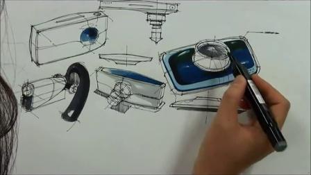 产品手绘效果图:马克笔技法