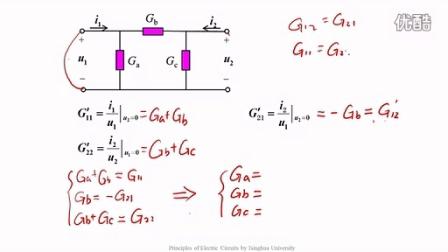 二端口網絡的等效電路(EQUIVALENT CIRCUITS OF TWO-PORT)清華 電路原理分析 電路 大學 于歆杰 電壓電路電流電感電容