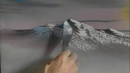 bob ross油画风景视频教程s15-12