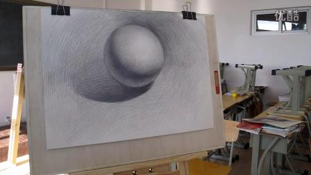 专题视频教程-如何绘制一个素描石膏几何体球体4