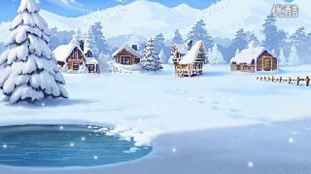 下雪天动态背景