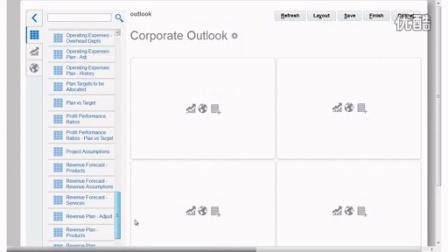 在Oracle计划与预算云中创建数据仪表盘