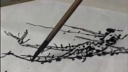 国画入门教程-工笔山水画技法视频-王中年山水画基础知识-树的画法(上图片