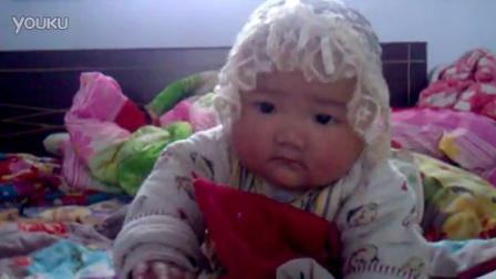 宝宝头巾系法图解