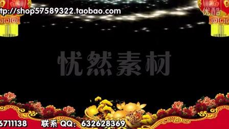 新春高清边框视频素材 新春大拜年前景遮罩视频素材