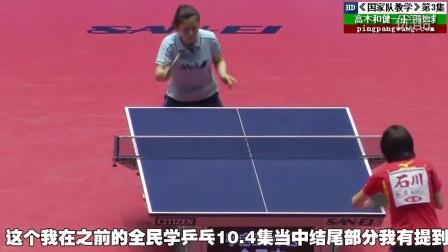 《国家队教学》第3集:高木和健一正手攻球技术_乒乓球教学视频教程