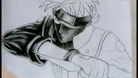 手绘火影忍者卡卡西