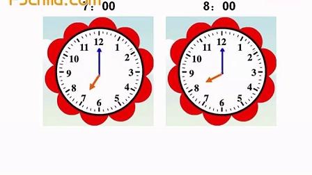 学期数学 认识时钟整点 1视频图片