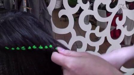 彩丝带编发造型