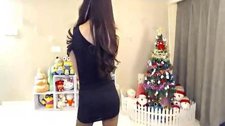 中国美女主播的黑色短裙诱惑