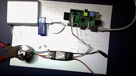 树莓派 控制 无刷电机 无刷电调