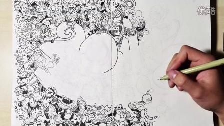 春节快乐!手绘插画拜年啦!视频