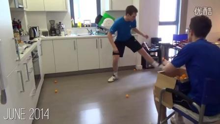 牛人坚持练了一年乒乓球以后,从新手变成了全英国排名250以内的选手!