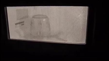 把葡萄切成两半后用玻璃杯罩住放进微波炉加热会发生什么?