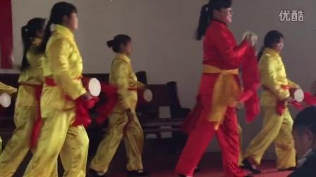 南京市六合区乌石教堂腰鼓表演