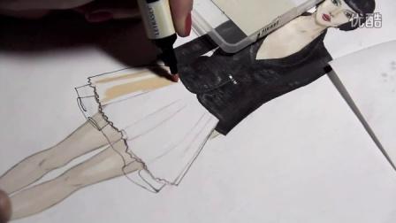 马克笔 服装设计手绘教程