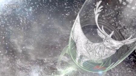 农夫山泉 高端玻璃瓶 矿泉水广告