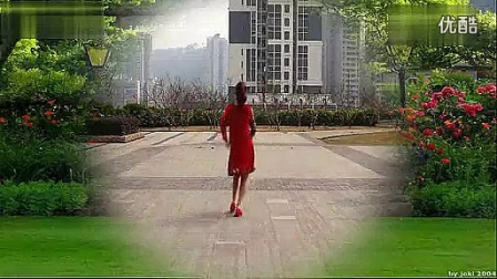 重庆�~子广场舞 马上好运来 背面