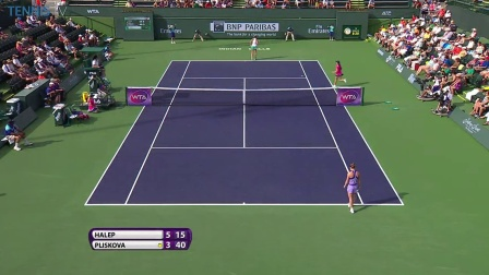 2015_03_17_WTA_印第安维尔斯_R4_哈勒普VS普利斯科娃